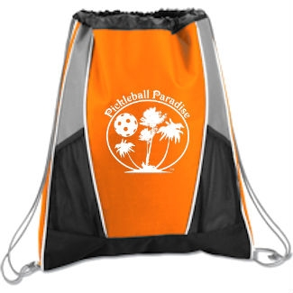Paddle Cinch Bag Pickleball Paradise available in blue e2306c8f2ceb4